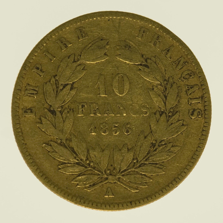 frankreich - Frankreich Napoleon III. 10 Francs 1856