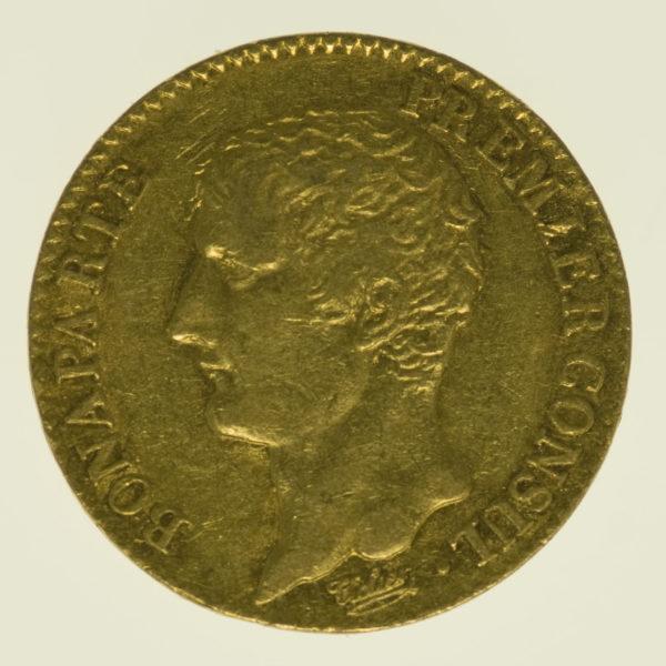 frankreich - Frankreich Bonaparte Premier Consul 20 Francs AN 12 A