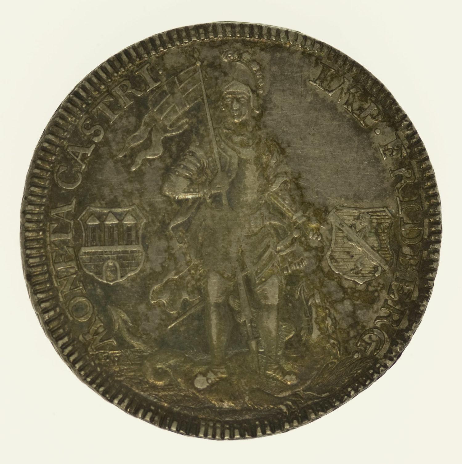 altdeutschland-deutsche-silbermuenzen - Friedberg Reichsburg Franz Heinrich von Dalberg 1/2 Taler 1766
