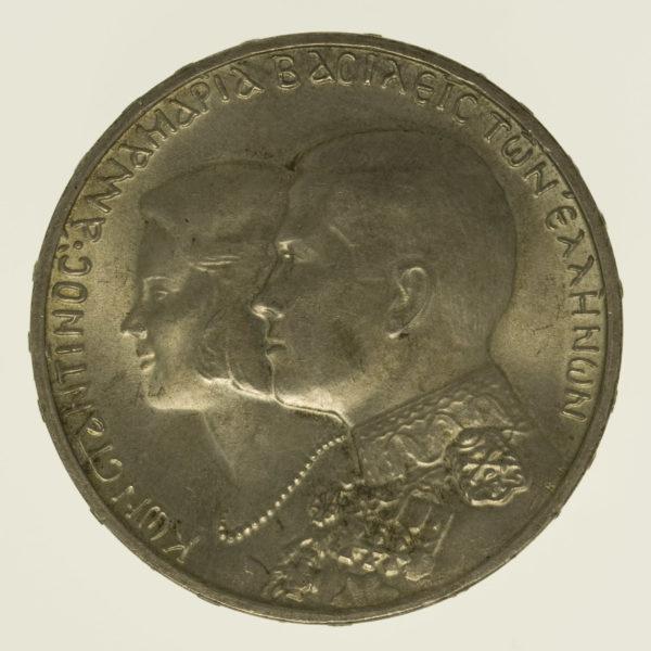 griechenland-silbermuenzen-uebriges-europa - Griechenland Konstantin II. 30 Drachmen 1964