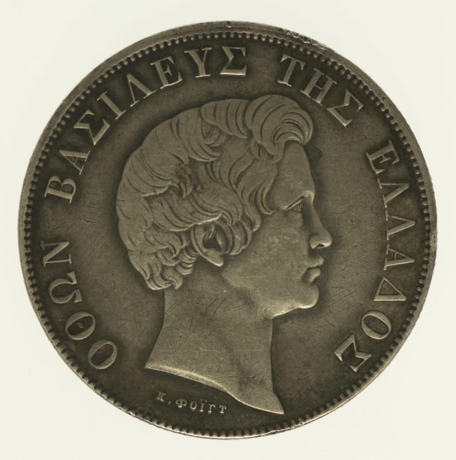 griechenland-silbermuenzen-uebriges-europa - Griechenland Otto I. 5 Drachmen 1833