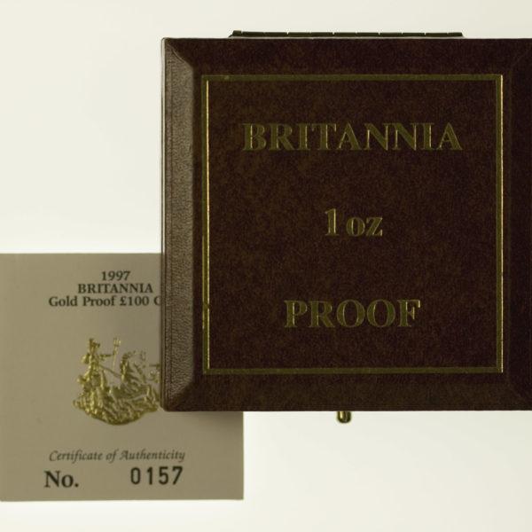 grossbritannien - Großbritannien Elisabeth II. 100 Pounds 1997 Britannia
