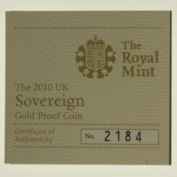 grossbritannien - Großbritannien Elisabeth II. Sovereign 2010