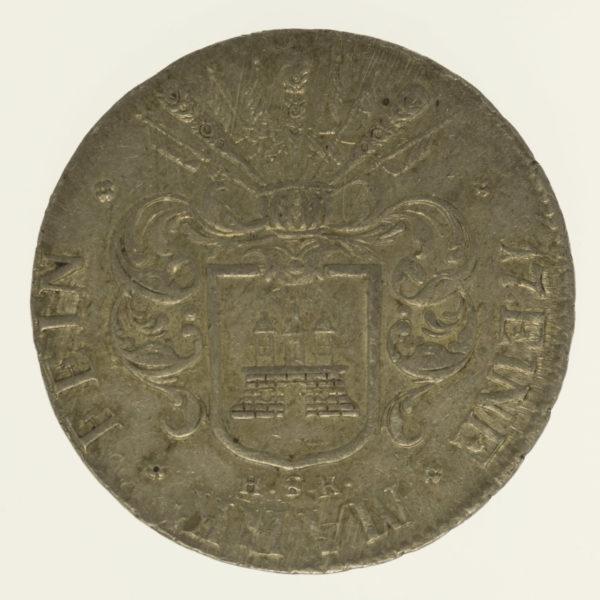 altdeutschland-deutsche-silbermuenzen - Hamburg 32 Schillinge 1809