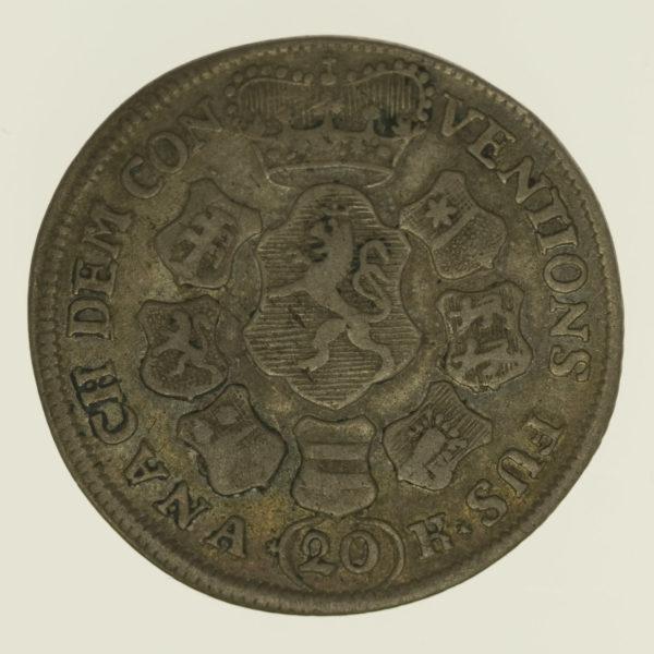 altdeutschland-deutsche-silbermuenzen - Hessen Darmstadt Ludwig VIII. 20 Kreuzer 1762