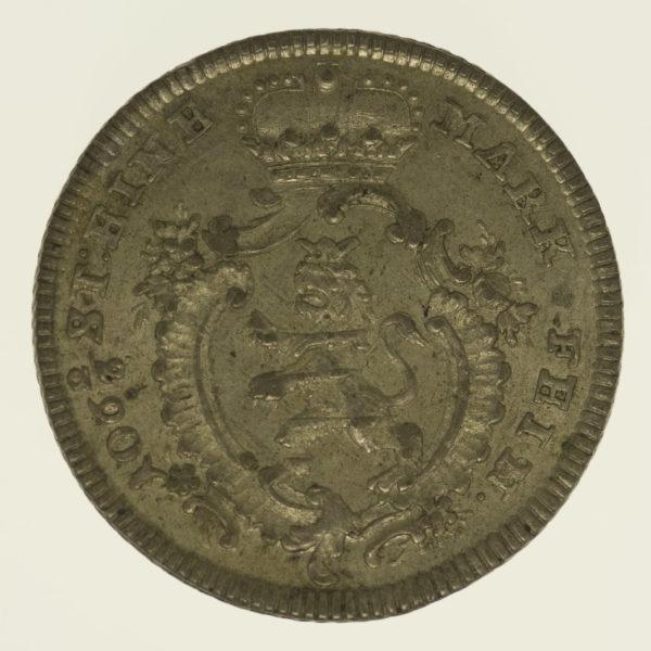 altdeutschland-deutsche-silbermuenzen - Hessen Kassel Friedrich II. 1/8 Taler 1769