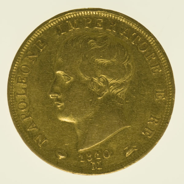 italien - Italien Napoleon I. 40 Lire 1810 M