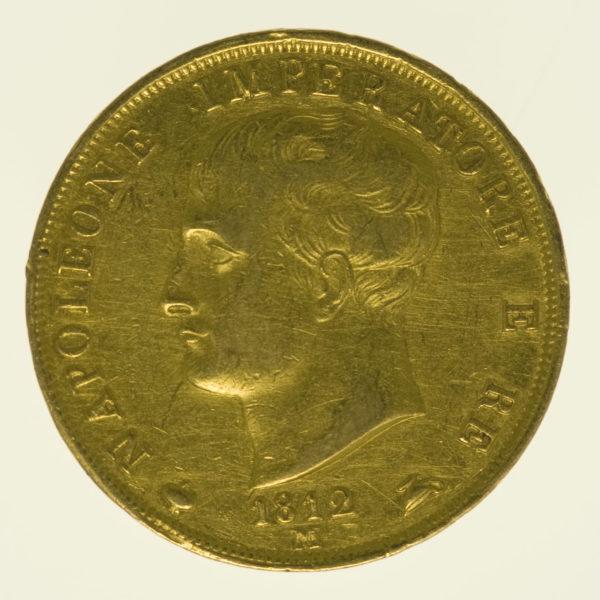 italien - Italien Napoleon I. 40 Lire 1812 M