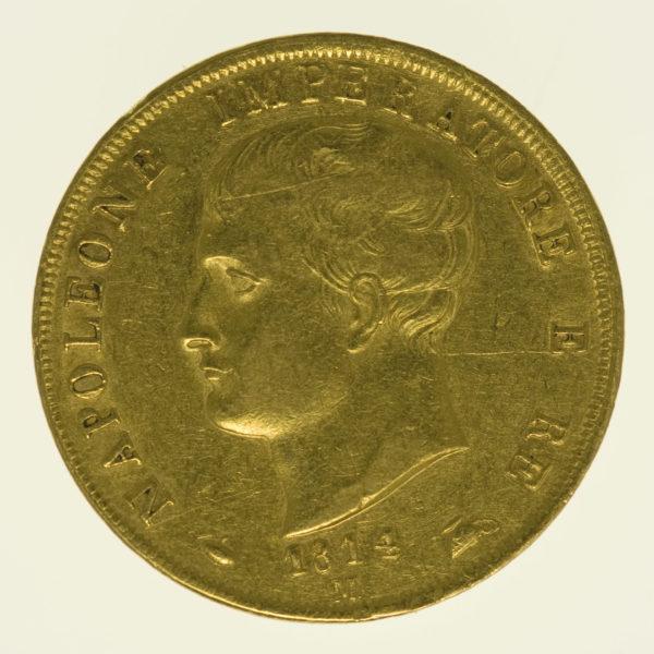 italien - Italien Napoleon I. 40 Lire 1814 M