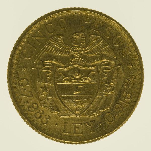 kolumbien - Kolumbien 5 Pesos 1929