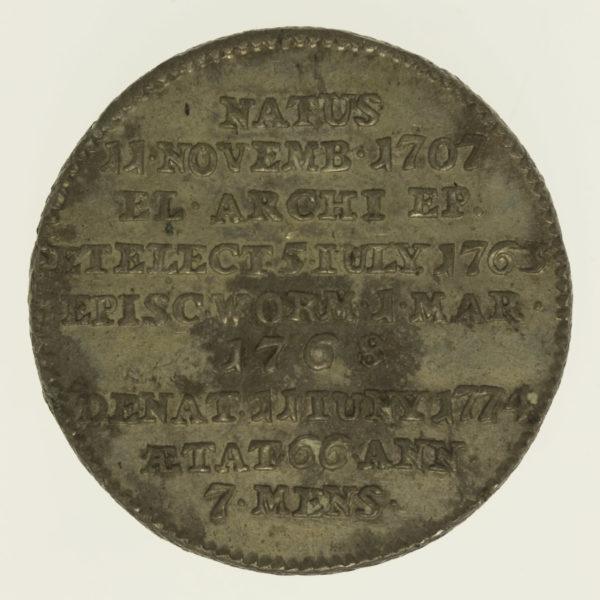 altdeutschland-deutsche-silbermuenzen - Mainz Joseph Freiherr von Breidbach-Bürresheim 30 Kreuzer 1774