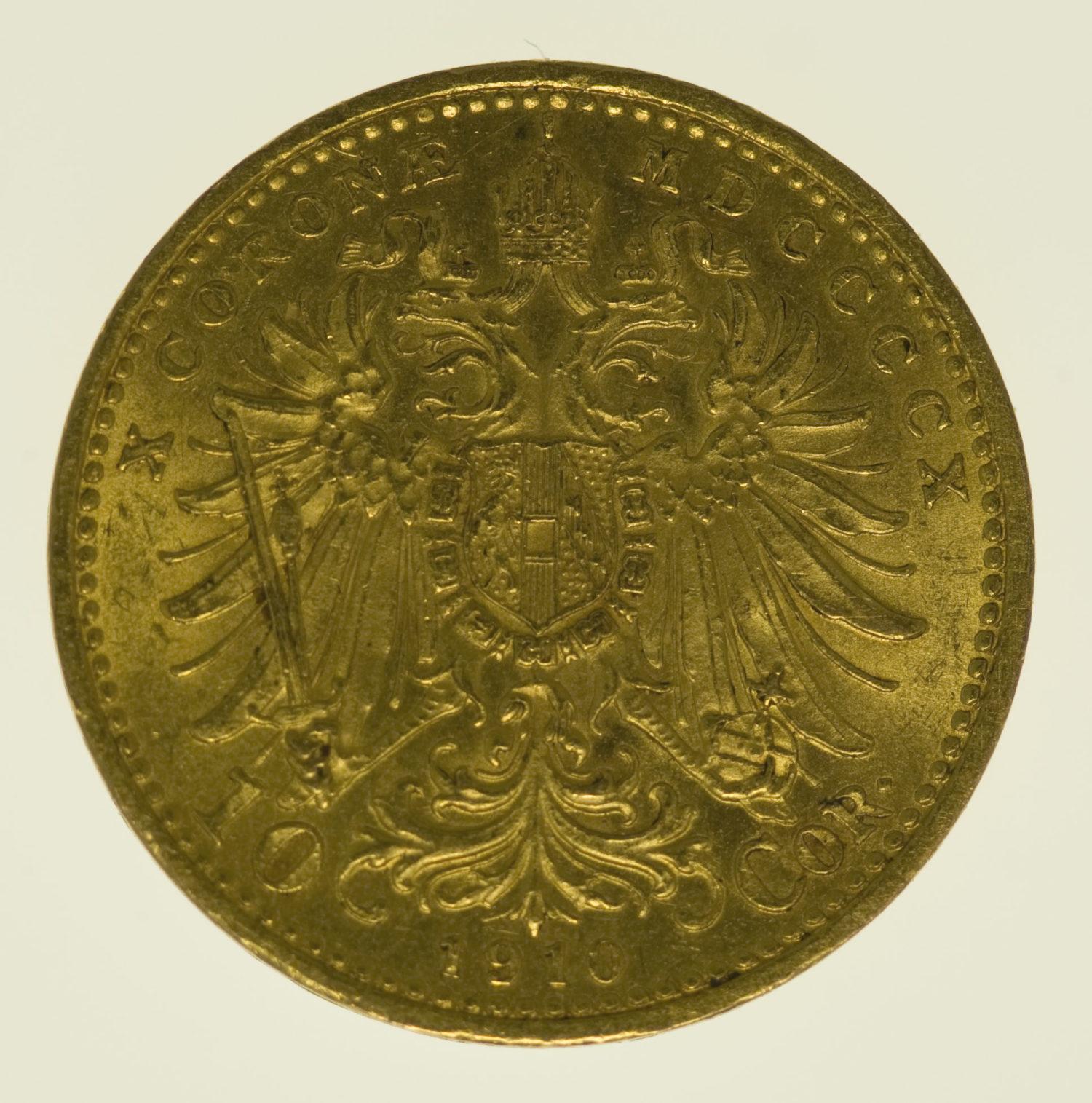oesterreich - Österreich Kaiserreich Franz Joseph I. 10 Kronen 1910