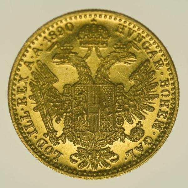 oesterreich - Österreich Kaiserreich Franz Joseph I. Dukat 1890