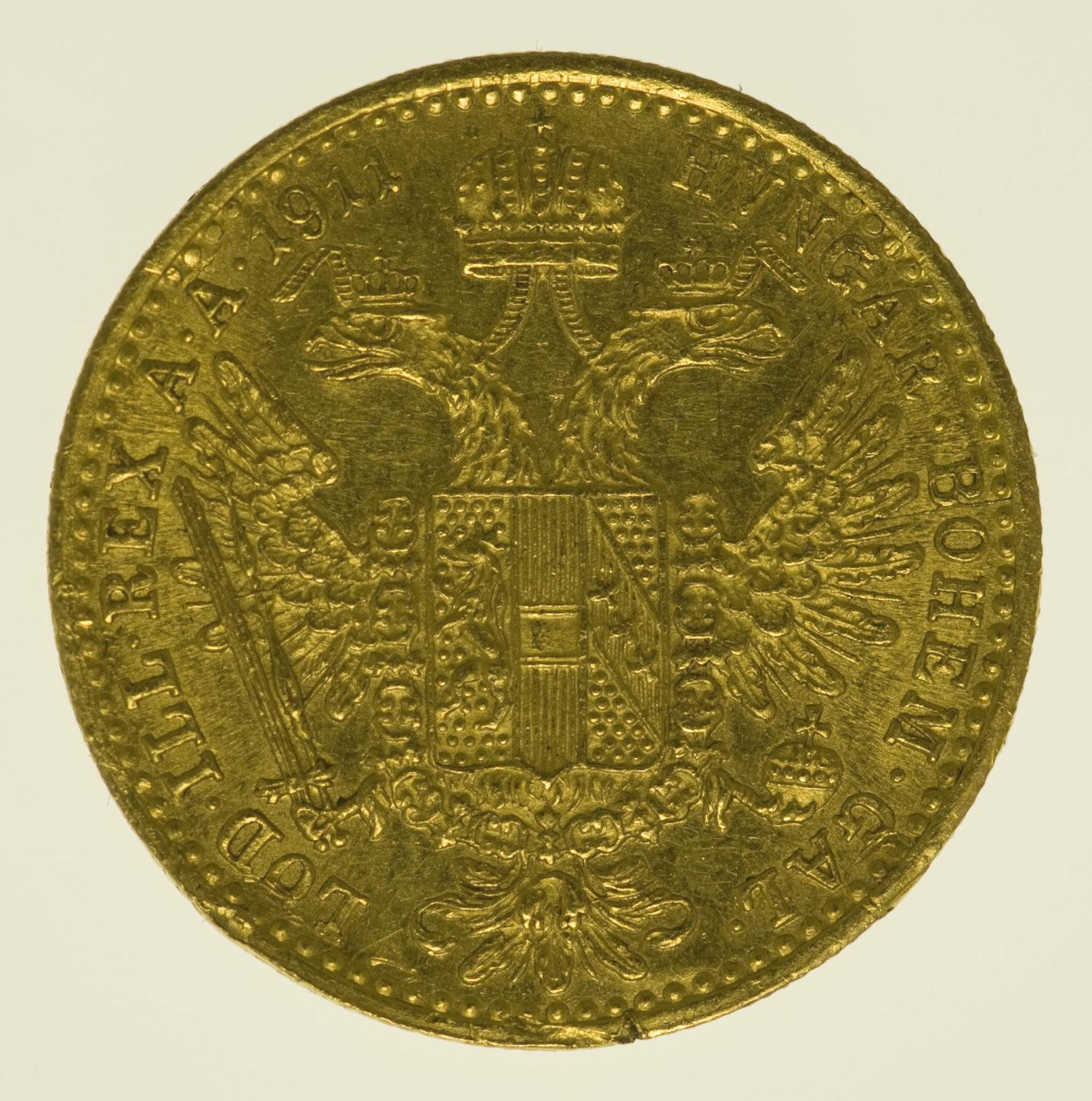 oesterreich - Österreich Kaiserreich Franz Joseph I. Dukat 1911