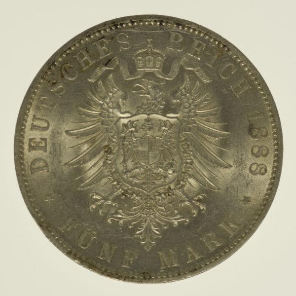 deutsches-kaiserreich-ab-1871-deutsche-silbermuenzen - Preussen Friedrich III. 5 Mark 1888