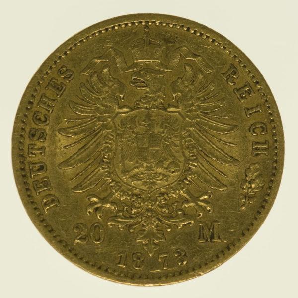 deutsches-kaiserreich-ab-1871 - Preussen Wilhelm I. 20 Mark 1873 C