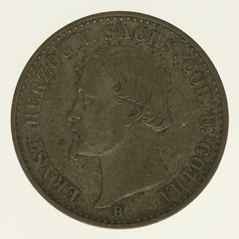 altdeutschland-deutsche-silbermuenzen - Sachsen Coburg Gotha Ernst II. 2 Groschen 1868