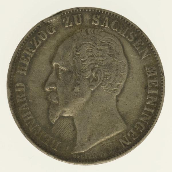 altdeutschland-deutsche-silbermuenzen - Sachsen Meiningen Bernhard Erich Freund 2 Gulden 1854