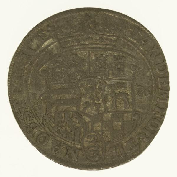 altdeutschland-deutsche-silbermuenzen - Sayn Wittgenstein Hohenstein Gustav 2/3 Taler 1676