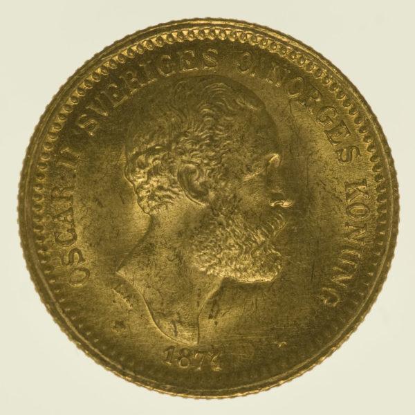 schweden - Schweden Oskar II. 10 Kronen 1874