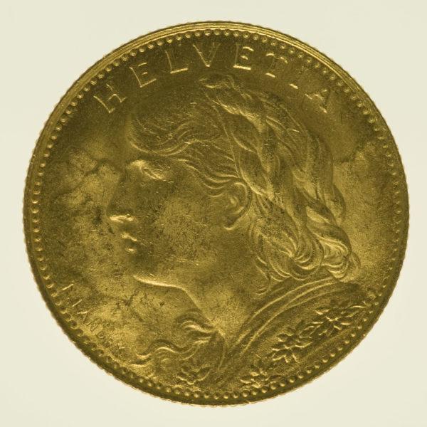 schweiz - Schweiz 10 Franken 1922 Vreneli