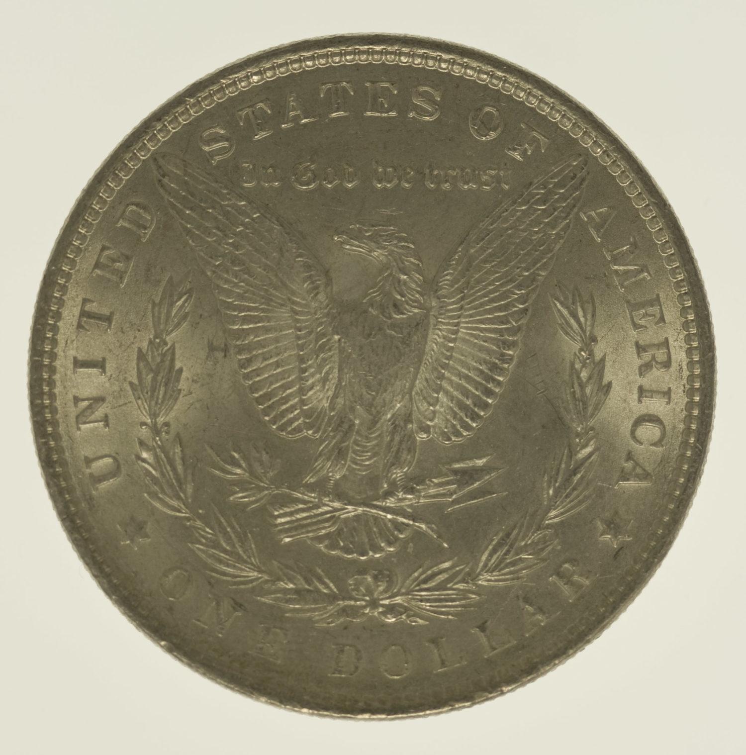 usa-silbermuenzen-uebrige-welt - USA Morgan Dollar 1898