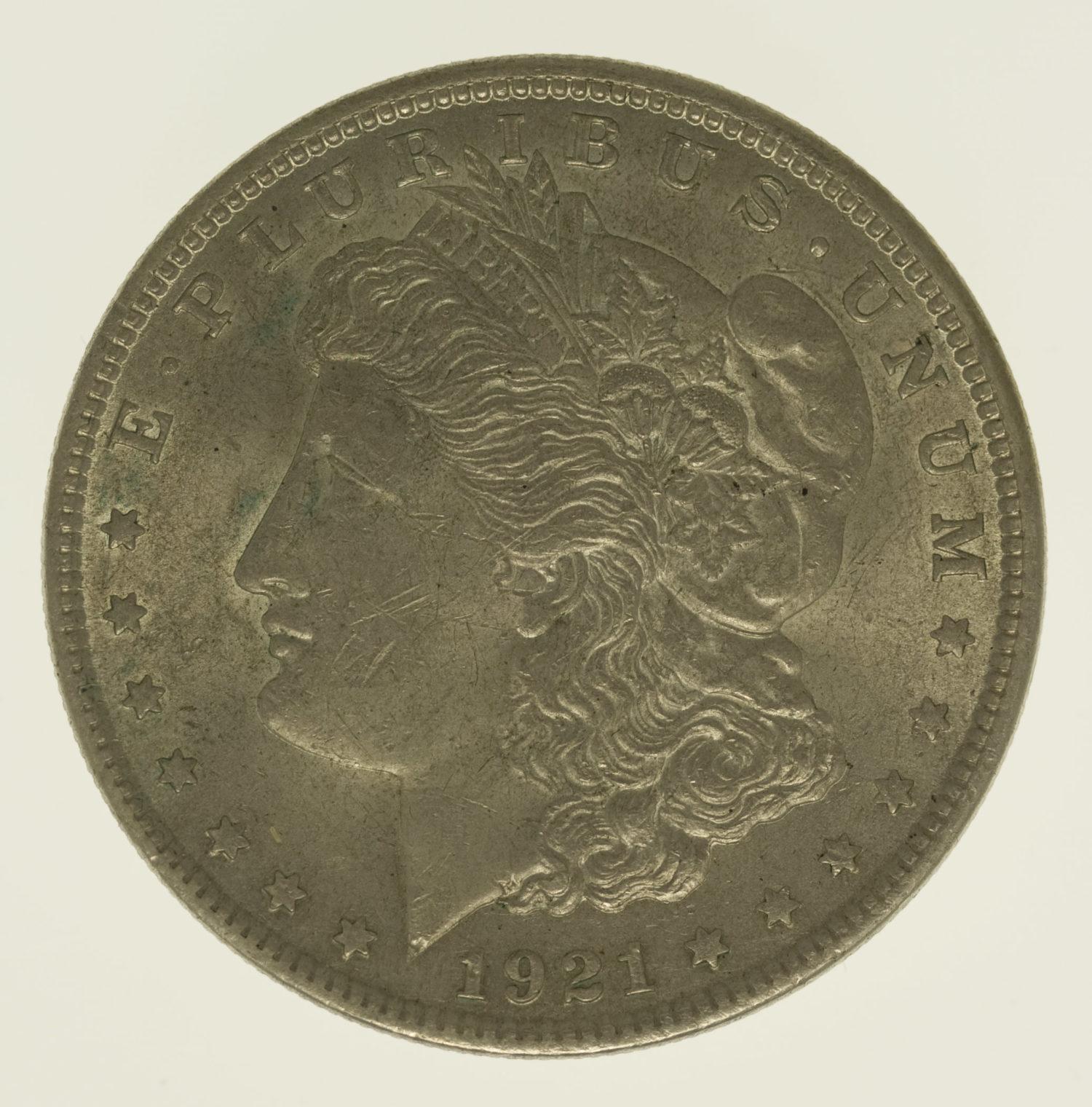 usa-silbermuenzen-uebrige-welt - USA Morgan Dollar 1921