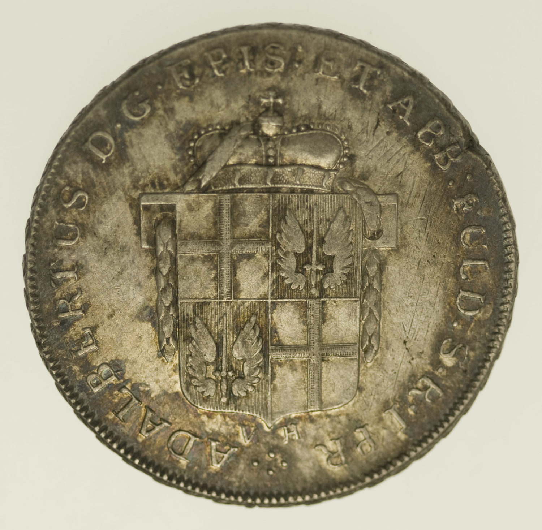 altdeutschland-deutsche-silbermuenzen - Fulda Adalbert III. von Harstall 1/2 Taler 1796