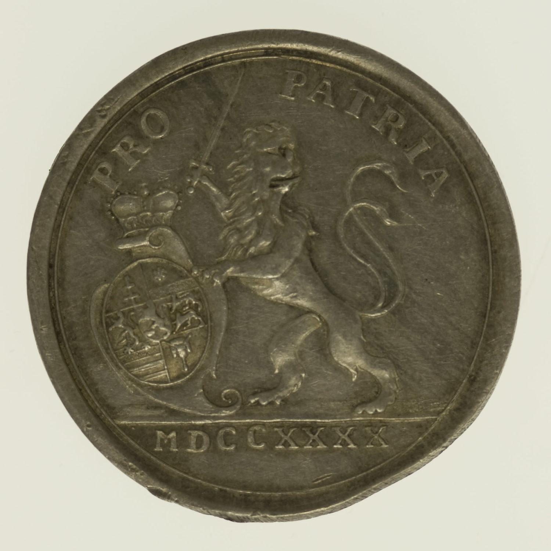 altdeutschland-deutsche-silbermuenzen - Hessen Darmstadt Ludwig VIII. Silbermedaille 1740