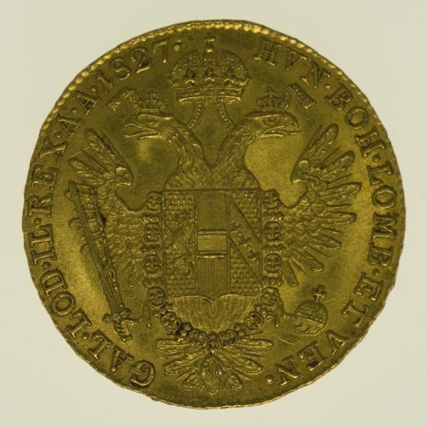 oesterreich - Österreich Kaiserreich Franz I. Dukat 1827 A