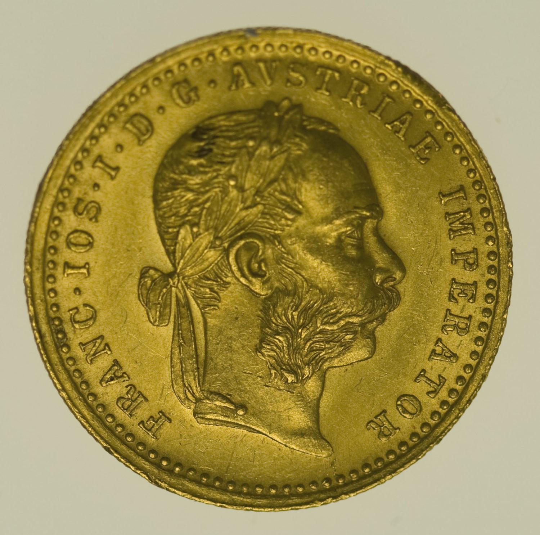 oesterreich - Österreich Kaiserreich Franz Joseph I. Dukat 1874