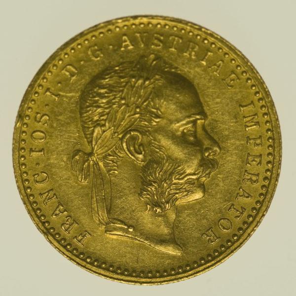 oesterreich - Österreich Kaiserreich Franz Joseph I. Dukat 1881