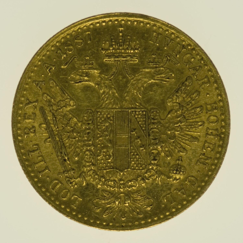 oesterreich - Österreich Kaiserreich Franz Joseph I. Dukat 1887