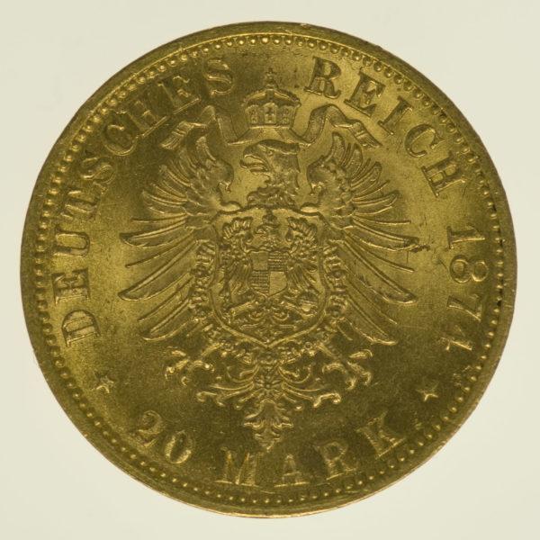 deutsches-kaiserreich-ab-1871 - Preussen Wilhelm I. 20 Mark 1874 B
