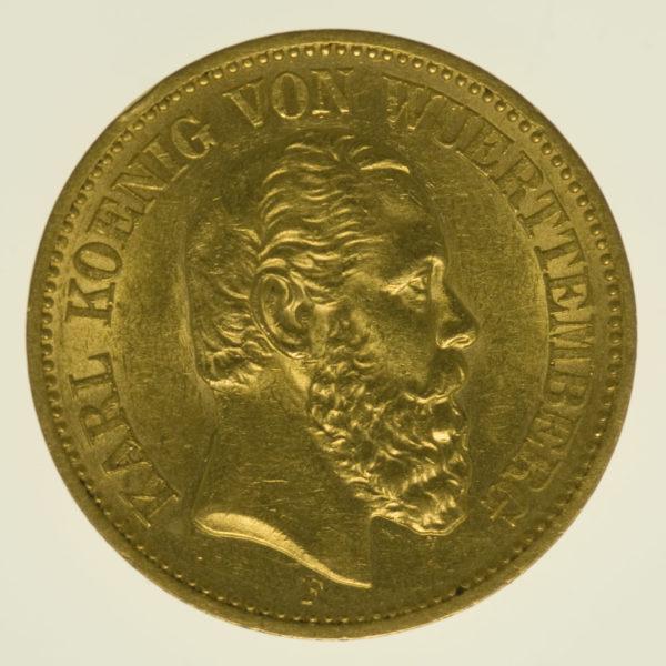 deutsches-kaiserreich-ab-1871 - Württemberg Karl 20 Mark 1872