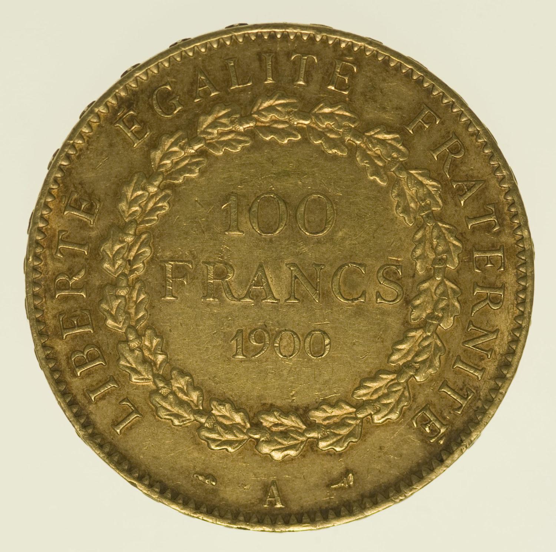 frankreich - Frankreich 100 Francs 1900 A