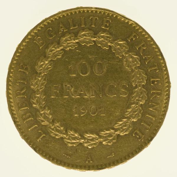 frankreich - Frankreich 100 Francs 1901 A