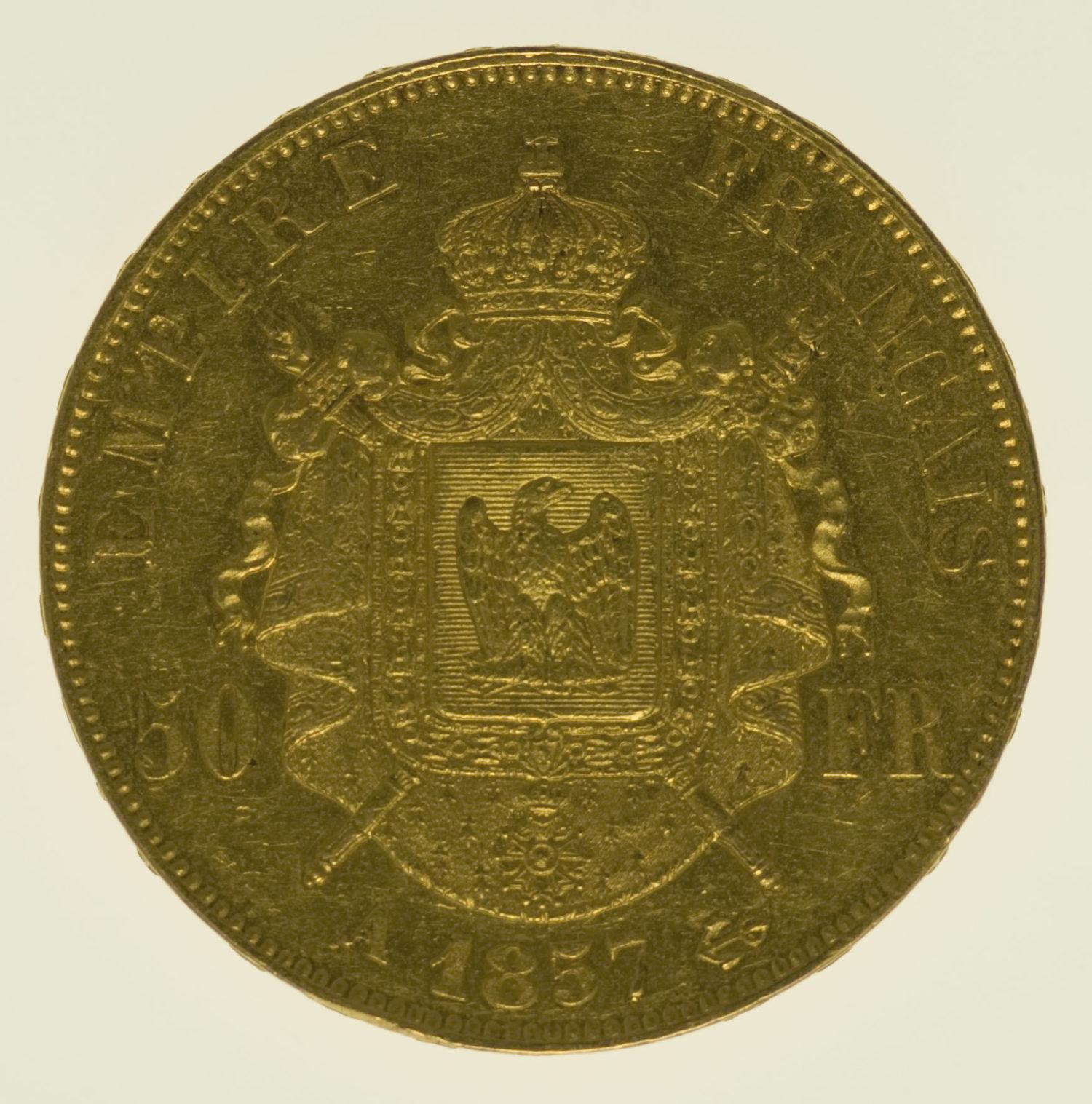 frankreich - Frankreich Napoleon III. 50 Francs 1857 A