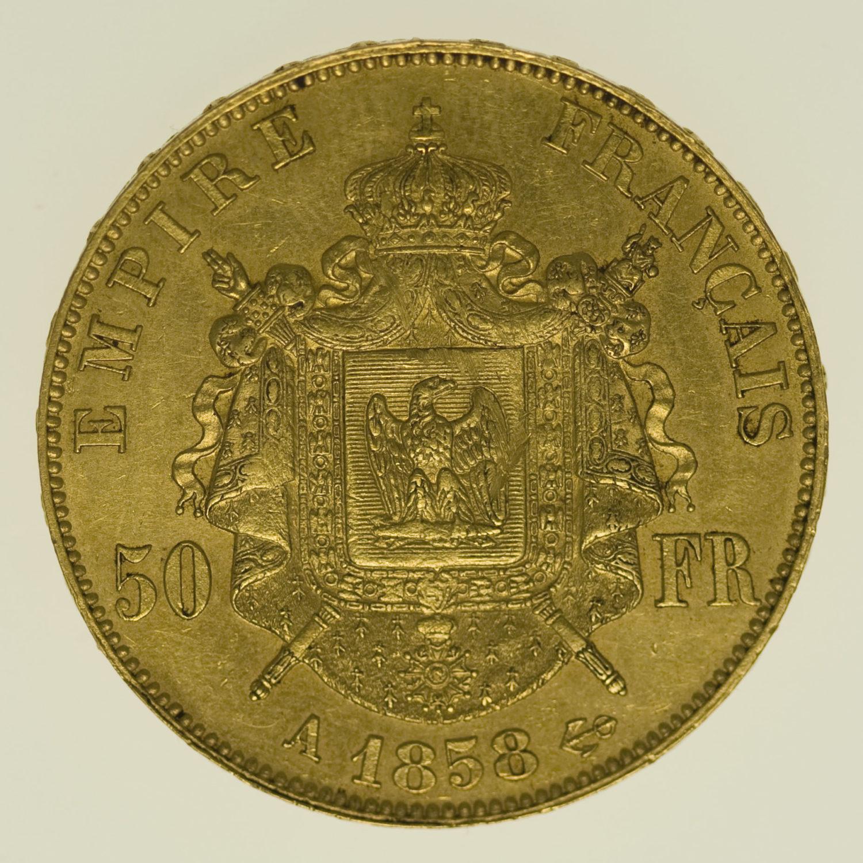 frankreich - Frankreich Napoleon III. 50 Francs 1858 A