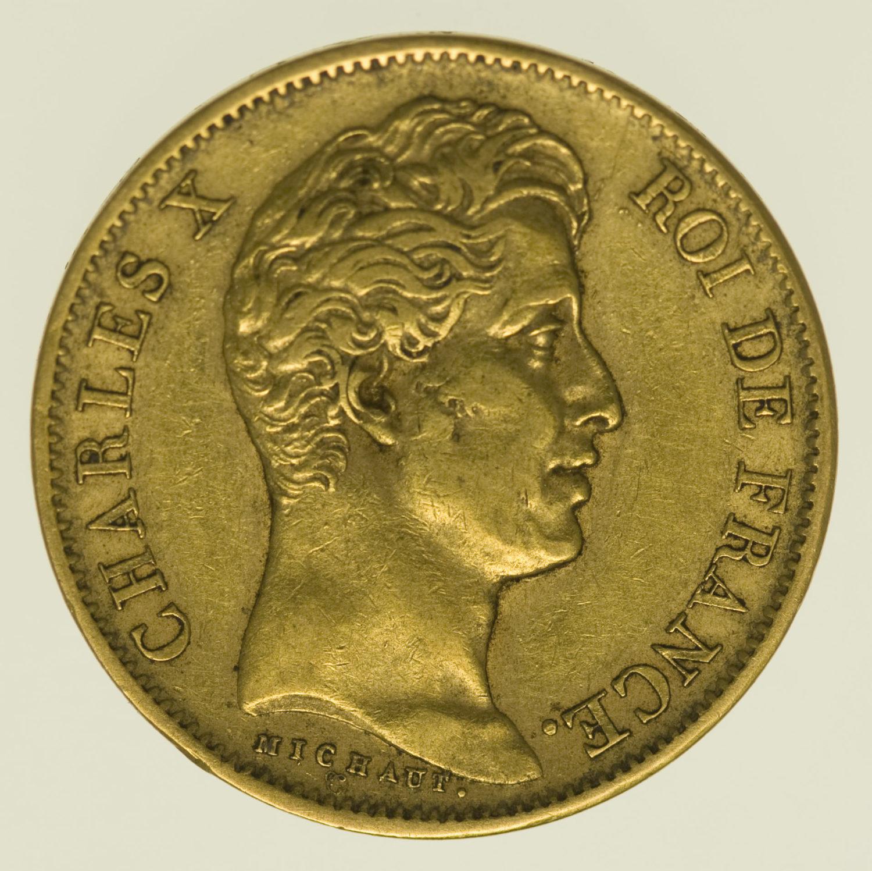 frankreich - Frankreich Charles X. 40 Francs 1829 A