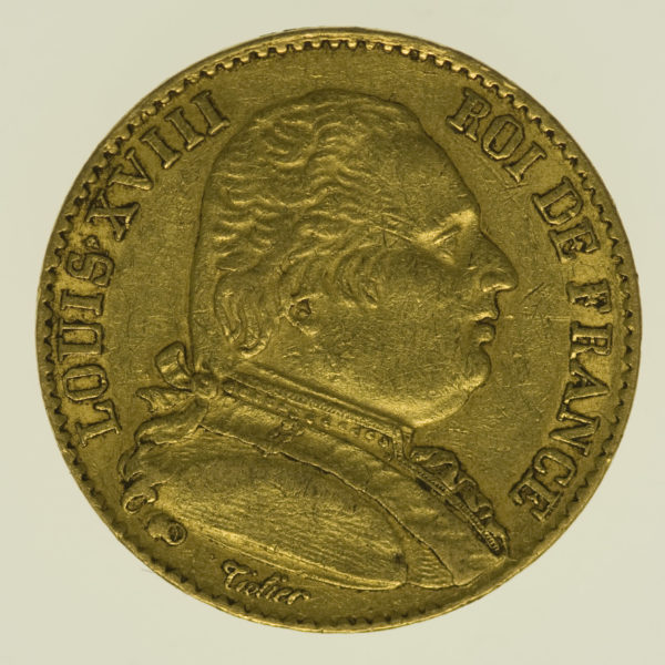 frankreich - Frankreich Louis XVIII. 20 Francs 1815 A