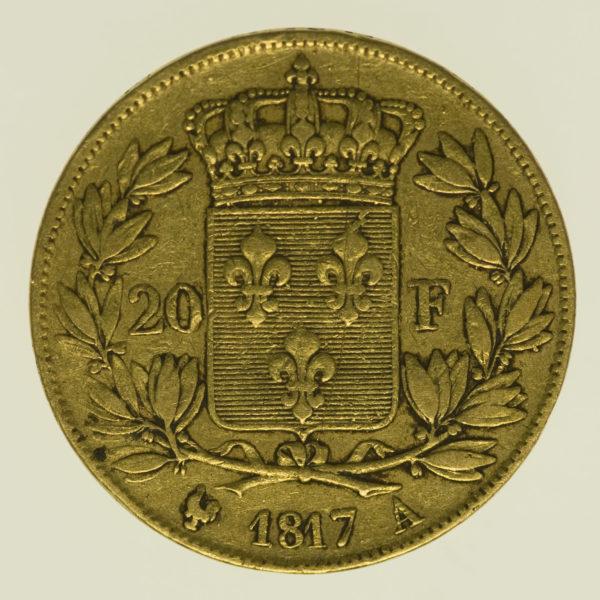 frankreich - Frankreich Louis XVIII. 20 Francs 1817 A