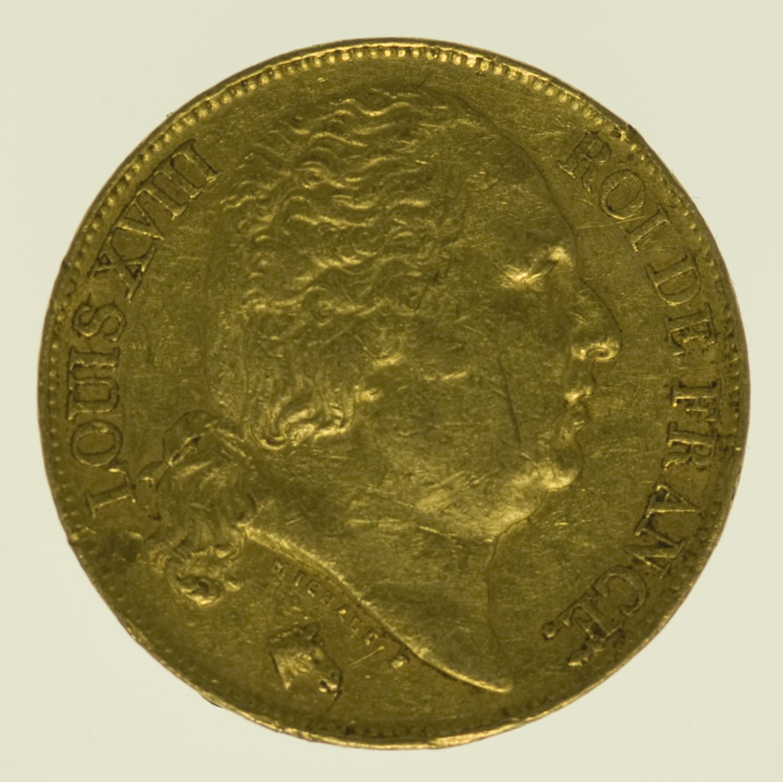 frankreich - Frankreich Louis XVIII. 20 Francs 1817 Q
