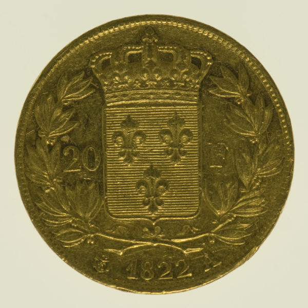 frankreich - Frankreich Louis XVIII. 20 Francs 1822 A