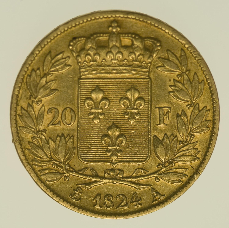 frankreich - Frankreich Louis XVIII. 20 Francs 1824 A