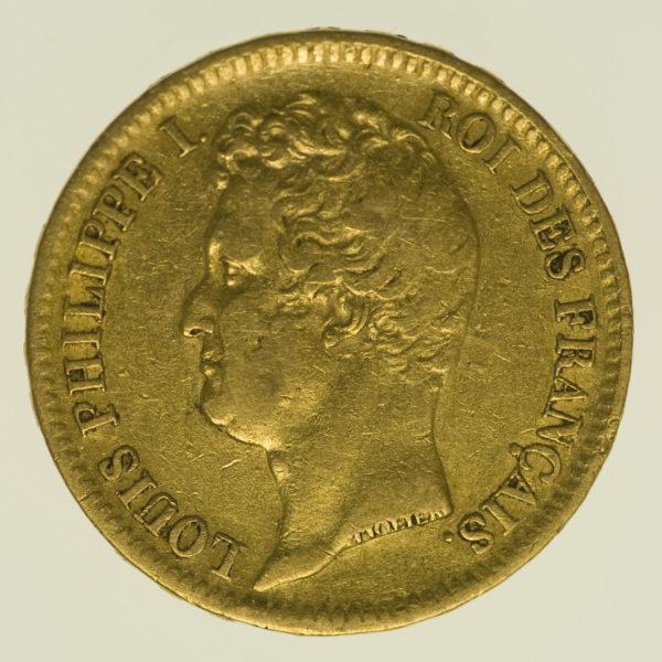 frankreich - Frankreich Louis Philippe I. 20 Francs 1831 B