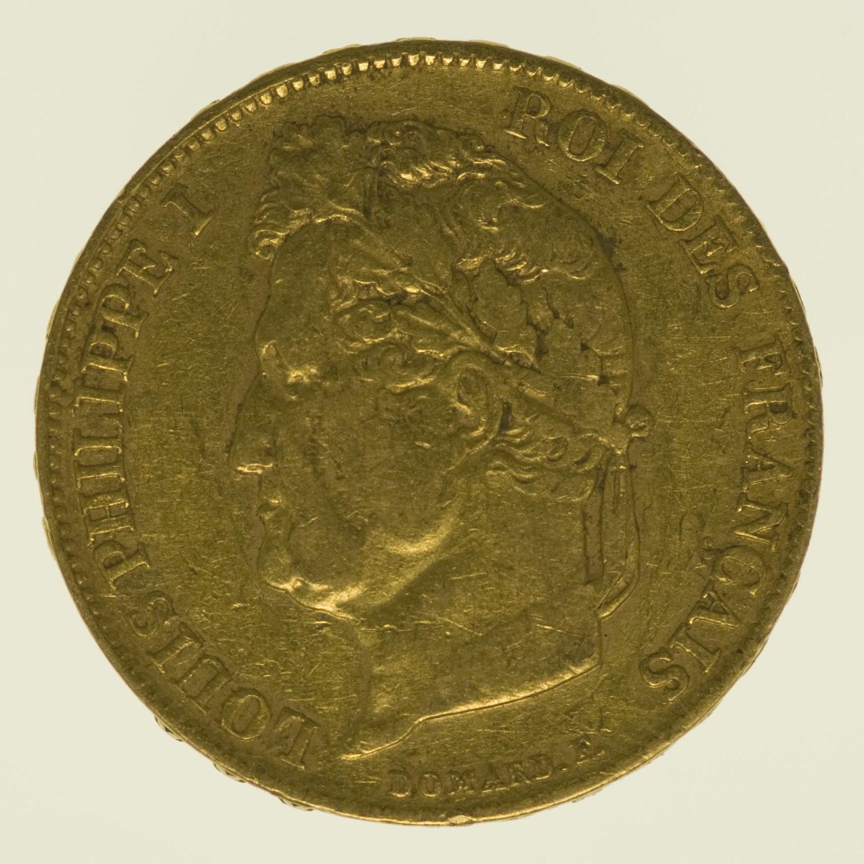 frankreich - Frankreich Louis Philippe I. 20 Francs 1834 W