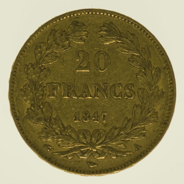 frankreich - Frankreich Louis Philippe I. 20 Francs 1847 A