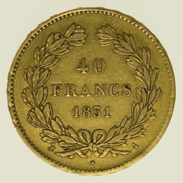 frankreich - Frankreich Louis Philippe I. 40 Francs 1831 A