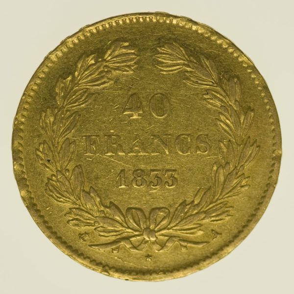 frankreich - Frankreich Louis Philippe I. 40 Francs 1833 A
